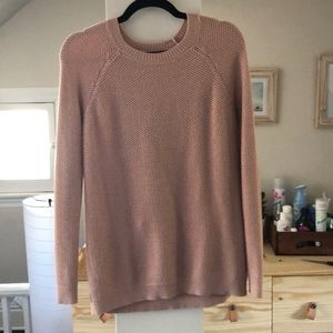 Pink honeycomb knit sweater
